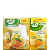 Air Wick freshmatic odor detect agrumes +2 recharges 2x24ml