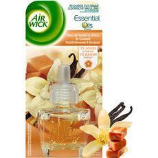 AIR WICK Essential Oils recharge pour diffuseur electrique vanille caramel 19ml