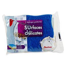 AUCHAN Auchan éponge grattante surfaces délicates x2