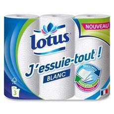 Lotus Essuie-tout blanc x3