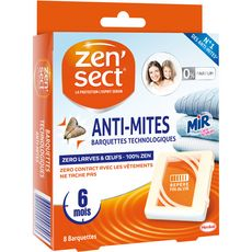 Zensect Barquettes technologiques anti-mites, larves & oeufs x8