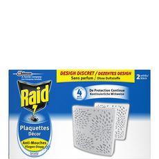 RAID Raid Plaquettes anti-mouches sans parfum x2 efficace 2x4 mois 2 plaquettes