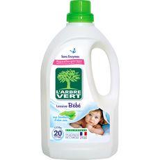 L'ARBRE VERT L'Arbre Vert Lessive bébé aux bienfaits d'aloe vera 20 lavages 1,5l