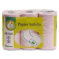 Pouce Papier toilette rose compact x6
