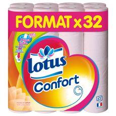 LOTUS Lotus confort papier toilette rose aquatube x32