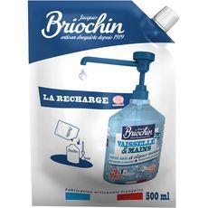 BRIOCHIN Recharge liquide vaisselle et mains écologique savon noir & algues marines 220 lavages 500ml