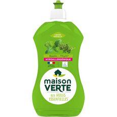 MAISON VERTE Liquide vaisselle écologique basilic thym 500ml