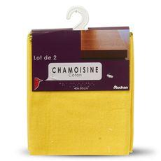 Auchan chamoisine coton 40x50cm x2