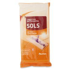 Auchan lingette nettoyante pour les sols x15