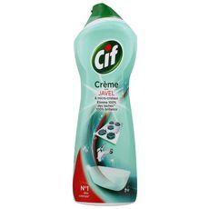 Cif crème à récurer nettoyant multi surfaces javel 750ml