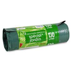 Auchan sacs poubelle spécial jardin lien classique 130l x8