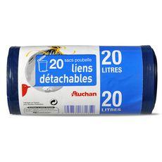 Auchan sac poubelle lien classique 20l x20