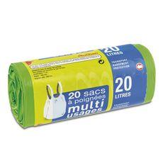 Auchan Sacs à poignées muti-usages 20l x20