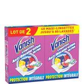 Vanish anti-décoloration ultra lingette 2x20