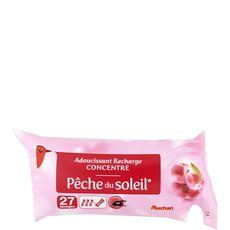 Auchan Recharge adoucissant pêche du soleil 27 lavages 500ml