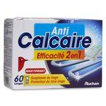 Auchan pastilles anti-calcaire lave linge x60