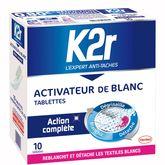 K2r activateur de lavage linge blanc tablette x10