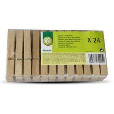 POUCE Pinces à linge en bois 24 pièces