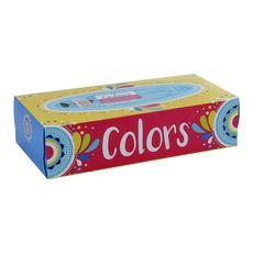 Auchan Boîte de mouchoirs colorés 3 épaisseurs x100