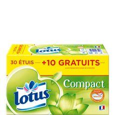 Lotus mouchoirs étuis compact x30 +10gt