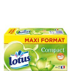 LOTUS Paquet de mouchoir blanc compact 30x9 mouchoirs