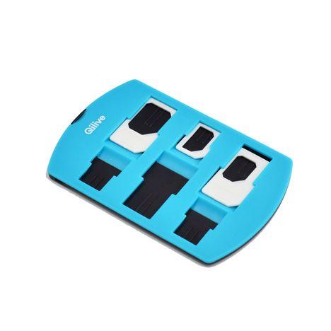 QILIVE Set de 3 adaptateurs de carte SIM