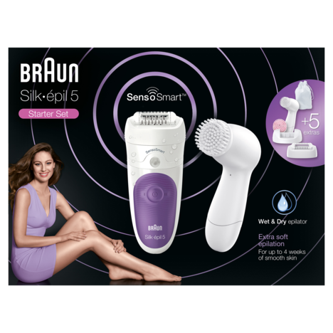 BRAUN Epilateur SE 5-870 Sensor + Brosse Visage