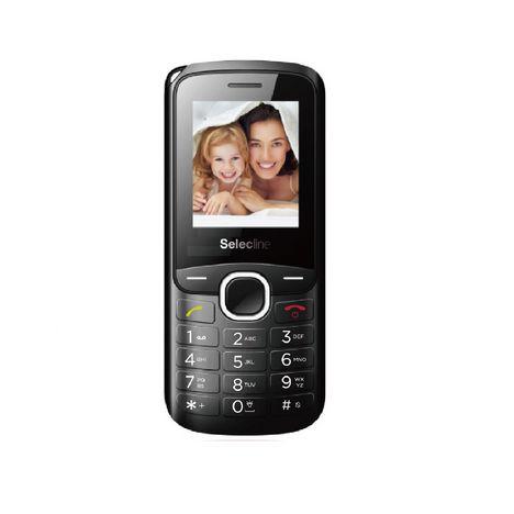 SELECLINE Téléphone portable PHONE 881424 - Double SIM - Noir