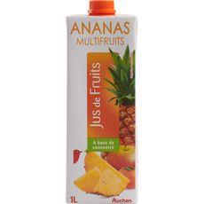Auchan jus ananas multi fruits brique 1l