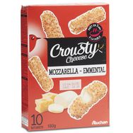Auchan crousty emmental mozzarella 180g