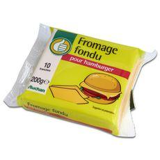 AUCHAN ESSENTIEL Fromage fondu en tranches pour hamburger 200g