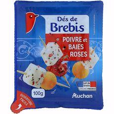 AUCHAN Auchan dés de brebis poivre 100g 100g
