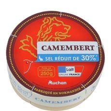 AUCHAN Camembert réduit en sel de 30% 250g