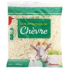 Auchan fromage de chèvre râpé 150g
