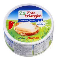 Auchan petits triangles de fromage fondu x24 -400G