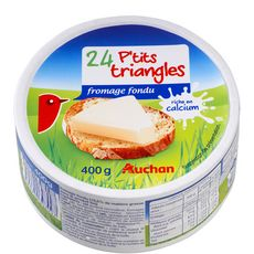 AUCHAN Petits triangles de fromage fondu 24 portions 400g