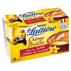 La Laitière crème brulée au caramel 4x100g