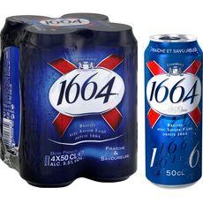 1664 bière blonde 5,5° canette 4x50cl