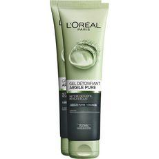 L'Oréal Gel détoxifiant aux 3 argiles pures et charbon 2x150ml