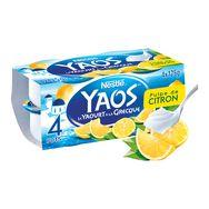 Nestlé YAOS Yaourt à la grecque citron 4x125g