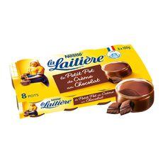 La Laitière petit pot de crème chocolat 8x100g