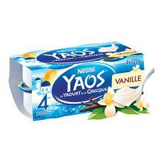 YAOS YAOS Yaourt à la grecque vanille 4x125g 4x125g