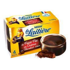 La Laitière petit pot de crème chocolat extra noir 4x100g