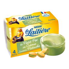 La Laitière petit pot de crème pistache 4x100g