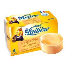 LA LAITIERE Pot de crème au biscuit 4x100g