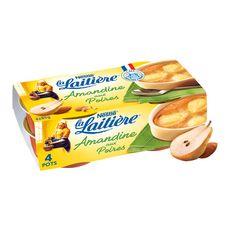 LA LAITIERE Dessert pâtissier amandine aux poires 4x85g