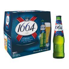 1664 Bière blonde 5,5% bouteilles 12x25cl