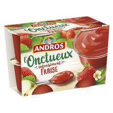 Andros onctueux à la fraise 4x97g
