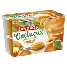 Andros onctueux à l'abricot 4x97g