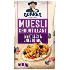 Quaker QUAKER Muesli de céréales croustillant myrtilles et baies de goji